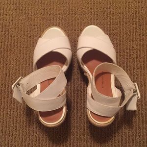 White strappy espadrilles